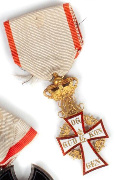 Danemark Ordre du Dannebrog. Croix de chevalier...
