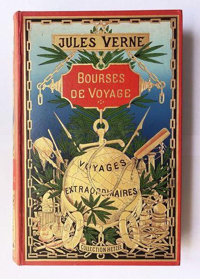VERNE (Jules). Bourses de voyage. Paris,...