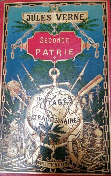 VERNE (Jules). Seconde patrie. Paris, Hetzel,...