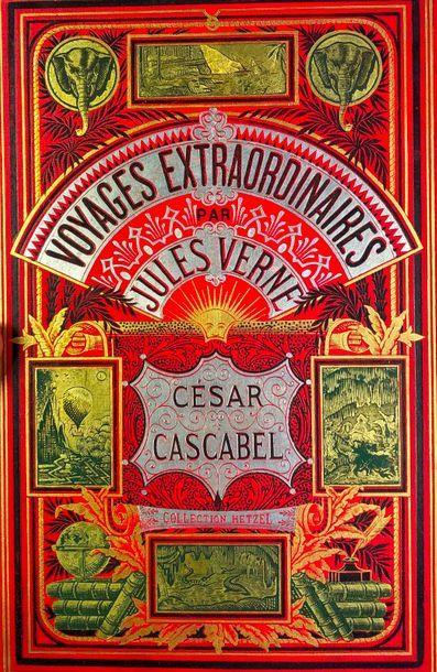 VERNE (Jules). César Cascabel Paris, Hetzel,...