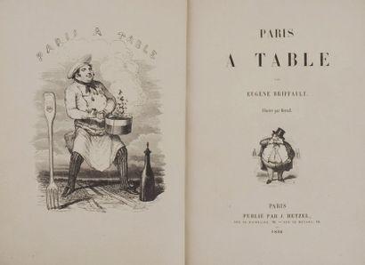 BRIFFAULT (Eugène). Paris à table. Illustré...