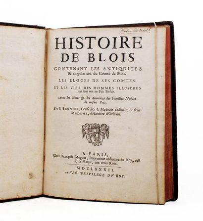 Blois - BERNIER (J.). Histoire de Blois contenant...