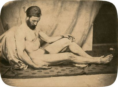 Auteur non-identifié Nu masculin, étude de...
