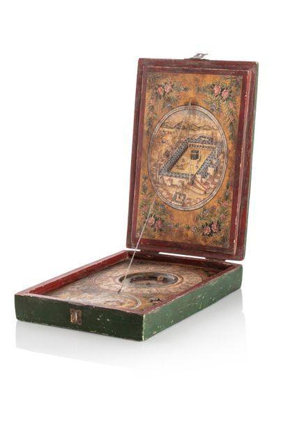 Grande boussole et indicateur de qibla ottoman,...