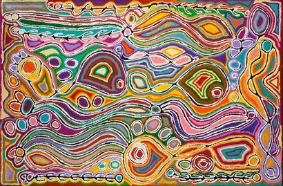 Judy Watson Napangardi (c. 1930 - ) Sans...