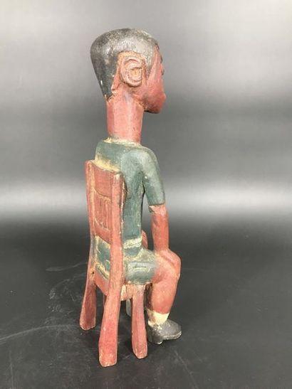 BAOULÉ, Côte d Ivoire BAOULÉ, Côte d Ivoire  Statue de colon représentant un personnage...