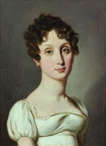 Louis Léopold BOILLY (La Bassée 1761 – Paris 1845) Portrait de femme Sur sa toile...
