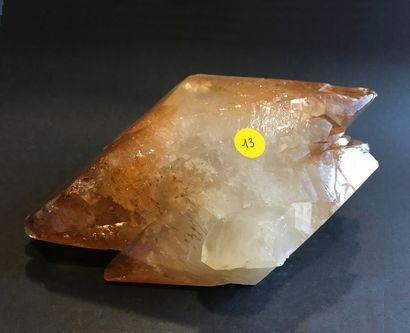 Calcite ambrée d'Elmwood (22 x 12 x 10 cm),...