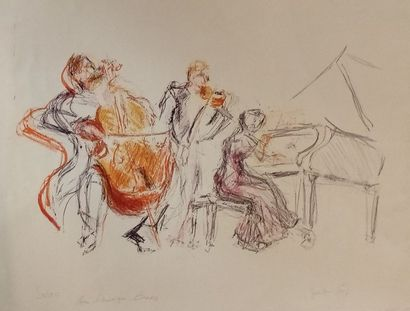 AURIAC Jacques (1922-2003)  Composition  Lithgoraphie...