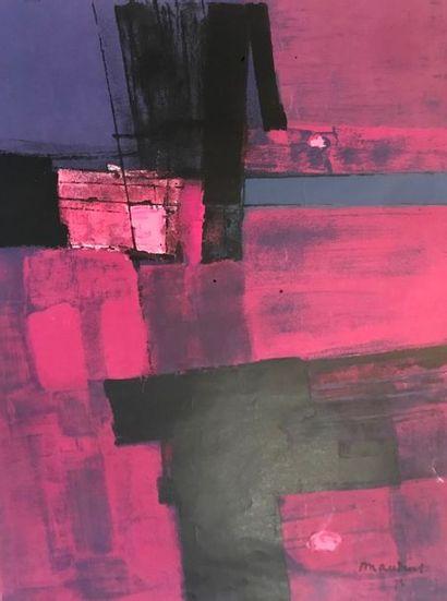 MAUDUIT Henri (1917-?) composition rose et...