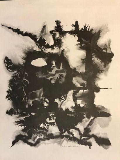 MESONNIER Louis (XX-XXIeme) Abstraction Lithographie...