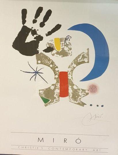 MIRO Joan, d'après  Christie's contemporary...