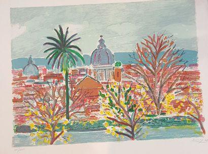 SAVARY Robert 1920-2000  Vue d'Italie  Lithographie...