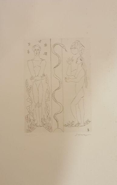 SURVAGE Léopold (1879-1968)  Adam et Eve...