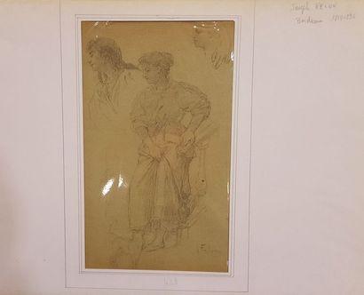 FÉLON Joseph (1818-1896)  Etude de femme...