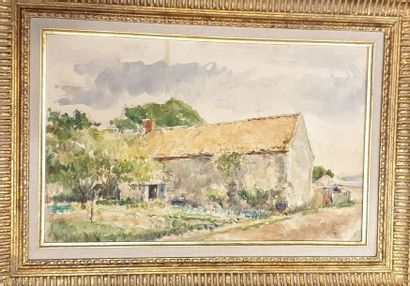 FILLON Arthur (1900-1974)  maison,  aquarelle...