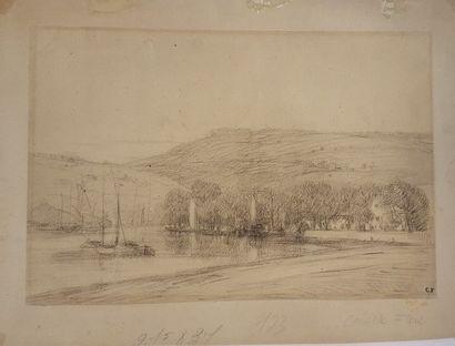 FLERS Camille (Paris 1802-1868 Annet)  Paysage...