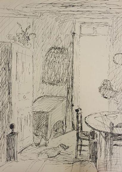GOERG Edouard Joseph (1893-1969)  Intérieur...