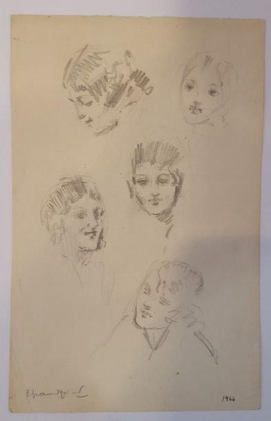 GRANDGERARD Lucien (1880-1970)  Etude de...