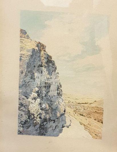 GRUNWALD R.J. (XIX -XXème siècle)  La falaise...