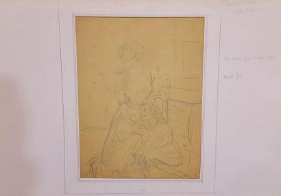 GSELL Laurent (1860-1944)  femme et enfants...