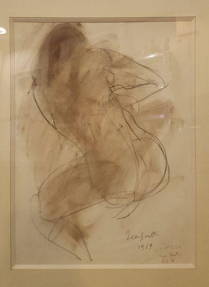 GUITTON Jean (1901-1999)  Nu de dos, 1969...