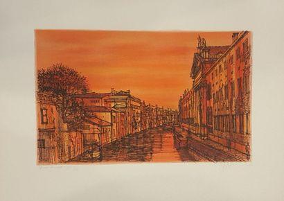 CARZOU Jean (1907-2000)  Venise, 1966  Lithographie...