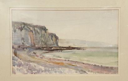 HULIN Jean (né en 1920)  Les falaises d'Etretat...
