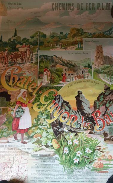 Affiche des Chemins de fer P.L.M par Franconville...