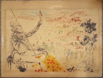 DALI Salvador, d'après  Don Quichotte,  Lithographie,...