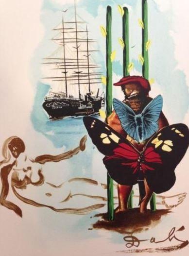 DALI Salvador, d'après  Le peintre aux papillons...