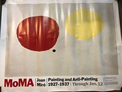 Affiche Miro au MOMA  plis