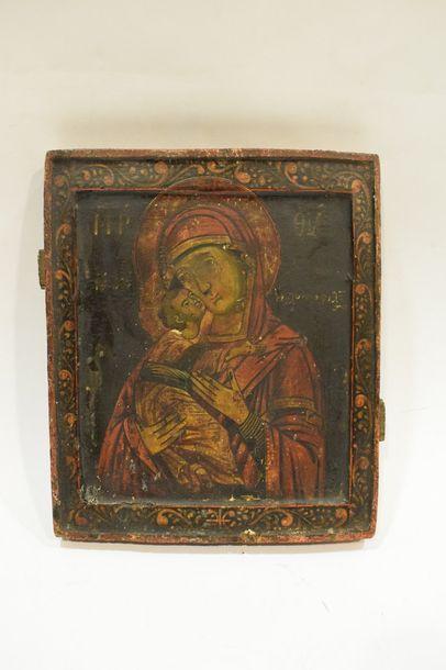 Mère de Dieu de Vladimir  Russie vers 1700...