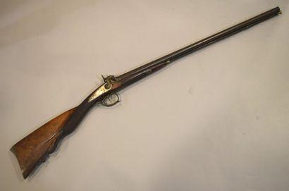 Fusil de chasse double en table, signé Nicolle...