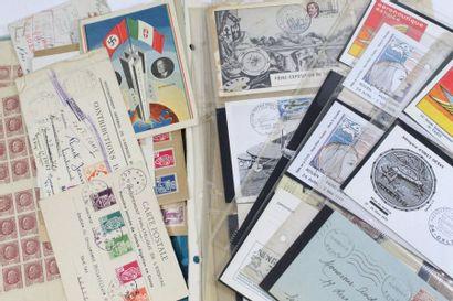 Ensemble divers dont faux Pétain et quelques lettres de libération et France libre....