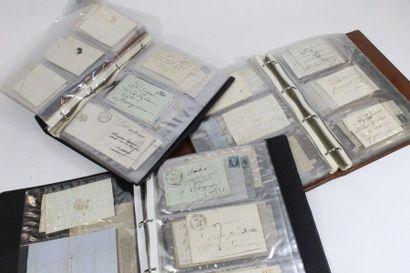 Trois volumes.  Collection de MP et lettres du Gard (29), plus de 300 pièces dont...