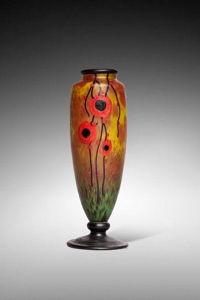 Charles SCHNEIDER (1881-1853)  Vase à corps...