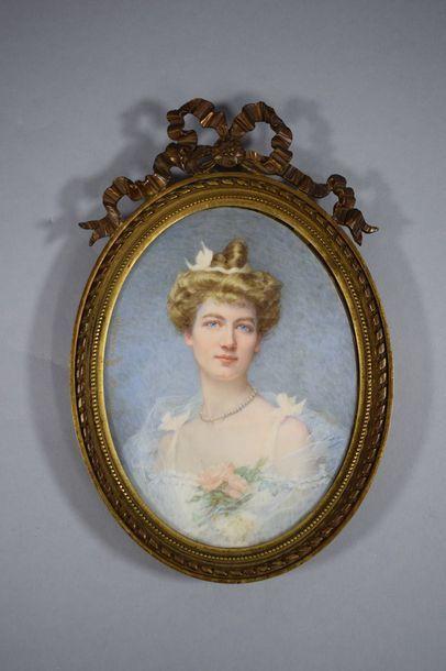 RICHARD Hortense  Paris 1860 - ? 1939    Portrait...