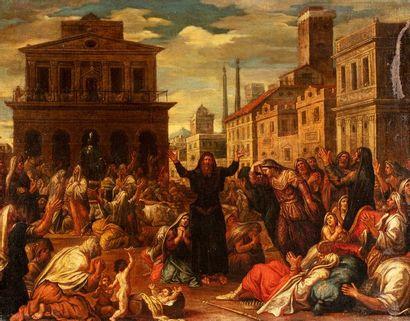 ECOLE FRANCAISE ou ITALIENNE du XVIIe siècle...