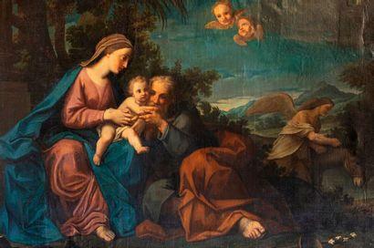 ECOLE ITALIENNE du XVIIe siècle  Entourage...