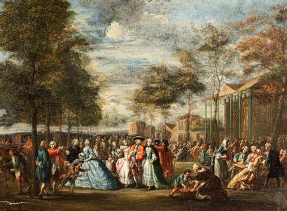 ECOLE FRANCAISE  Dans le goût de la Seconde Moitié du XVIIIe siècle    La Promenade...