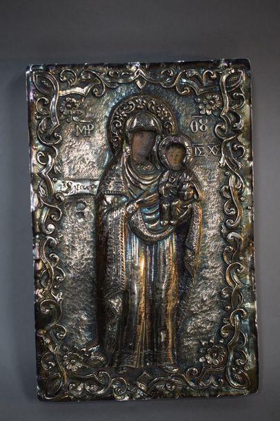 Vierge à l'Enfant en pied  Poinçon turc,...