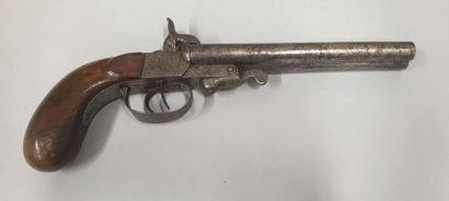 Pistolet de vénerie à broche  A deux canons...