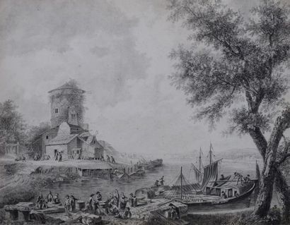 PILLEMENT Jean (Ecole de)  1728 - 1808  ...
