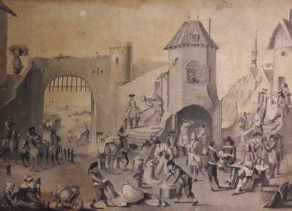 ECOLE FRANCAISE du XIXe siècle    1 - Pont...