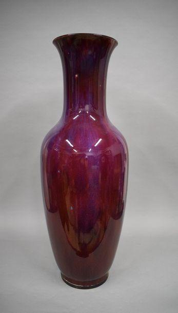 Sèvres 1895 probable. Grand vase balustre...