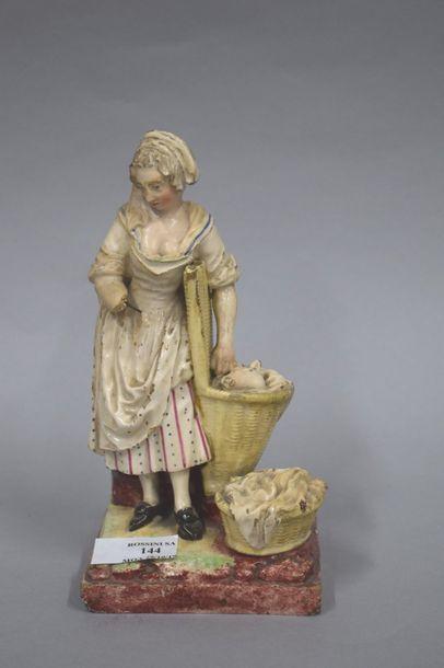 France - Niderviller Début 19e  Statuette...