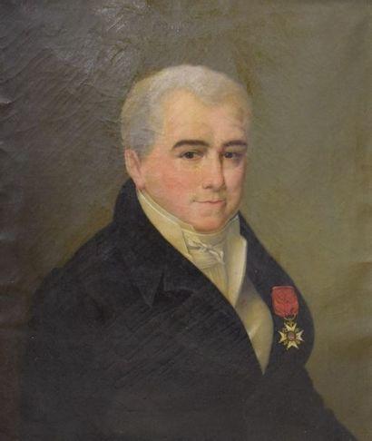 Ecole XIXe - GROS  Portrait présumé de Armand...