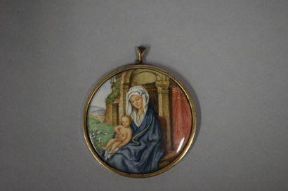 Suzanne GAUTHIER (1948)  Vierge à l'enfant...