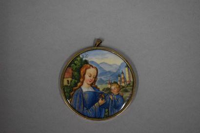 Suzanne GAUTHIER (1948)  La vierge et l'enfant...